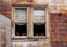 Windows in der Geisterstadt von St Elmo Lizenzfreie Stockfotos