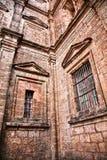 Windows der Kirche in altem Goa Indien stockbild