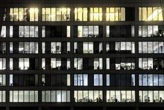 Windows des Büros ist geglänzte LIEBE Stockbild