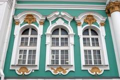 Windows des Einsiedlereigebäudes Stockbilder