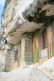 Windows des Felsenklosters Stockbild