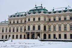 Windows des oberen Belvedere-Palastes stockfoto