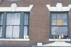 Windows des Wohn- Projektgebäudes, Süd-Bronx, New York lizenzfreie stockfotografie