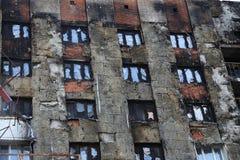 Windows después del fuego Fotos de archivo