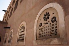 Windows. Details, old city center in Dubai Royalty Free Stock Photos