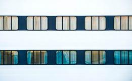 Windows di grande traghetto dell'oceano Fotografie Stock Libere da Diritti