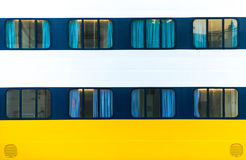Windows di grande traghetto dell'oceano Fotografia Stock