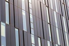 Windows di un primo piano alta tecnologia moderno della costruzione, come un fondo Fotografia Stock