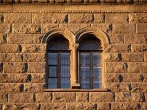 Windows di vecchia casa Fotografie Stock Libere da Diritti
