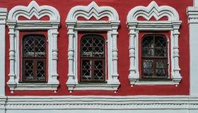 Windows di vecchia chiesa ortodossa Fotografia Stock Libera da Diritti