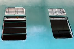 Windows in Diesel Electric Engine Train No.51 Royalty Free Stock Photo