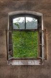 Windows in a dilapidated building Royalty Free Stock Photography