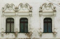 Windows do edifício velho fotos de stock royalty free