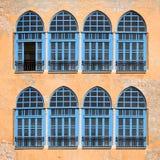 Windows do monastério velho Foto de Stock Royalty Free