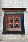 Windows do palácio de Tibet Foto de Stock