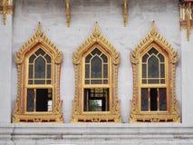 Windows do templo de mármore Imagem de Stock