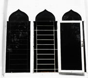 Windows with dome shape as islamic building characteristic photo taken in Jakarta Indonesia Royalty Free Stock Photo