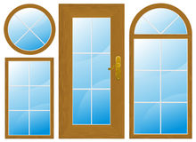 Windows and door Stock Image