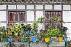 Windows, doors, Bhutan Stock Photos