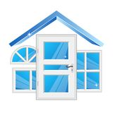 Windows and doors for home stock illustration