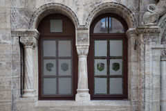Windows and doors in the old European style. Old windows and doors in the old European style stock photos