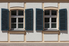 Windows and doors in the old European style. Old windows and doors in the old European style royalty free stock photo