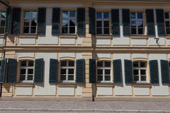 Windows and doors in the old European style stock photography