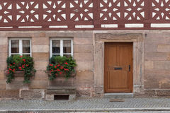 Windows and doors in the old European style. Old windows and doors in the old European style royalty free stock images