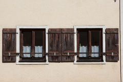 Windows and doors in the old European style royalty free stock photos