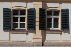 Windows and doors in the old European style royalty free stock image