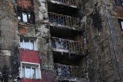 Windows dopo fuoco Immagine Stock Libera da Diritti