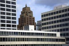 Windows in downtown Milwaukee Stock Image