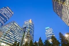 Windows drapacza chmur Biznesowy biuro, Korporacyjny budynek w Londyn zdjęcia royalty free