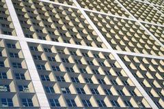 Windows drapacza chmur budynek Miastowa powierzchnia Architektury pojęcie Abstrakcjonistyczny widok drapacza chmur budynku wysoki Obraz Royalty Free