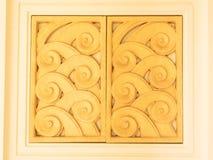 Windows drzwiowa ceramiczna dekoracja handmade Zdjęcia Royalty Free