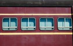 Windows du train de vintage dans la couleur marron photo libre de droits