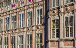 Windows of the Duivelshuis in Arnhem Royalty Free Stock Photos