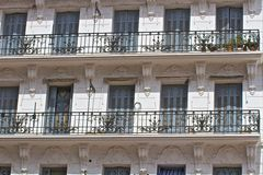 Windows e balcone Immagine Stock