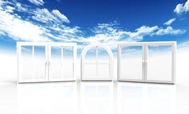 Windows e cielo Fotografia Stock Libera da Diritti