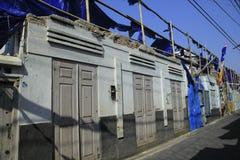 Windows e portas de uma construção velha Foto de Stock