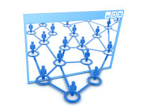 Windows e rete sociale Immagini Stock Libere da Diritti