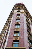 Windows on Edge of Ornate Building. In Vancouver Stock Photo