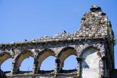 Windows einer Ruine stockfotografie