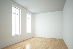 Windows in empty room Royalty Free Stock Photography