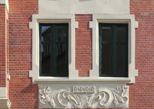 Windows en Bytom. Fotografía de archivo libre de regalías