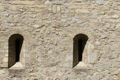 Windows en el fortalecimiento en el castillo Schlossberg Imagen de archivo libre de regalías