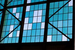 Windows en Ford Island Plane Hangar Photo stock