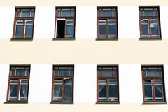 Windows en la fachada Foto de archivo libre de regalías