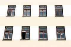Windows en la fachada Imágenes de archivo libres de regalías