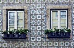 Windows en Lisboa Fotografía de archivo libre de regalías